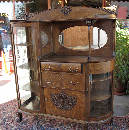 Antique Oak Buffet China CabiImages