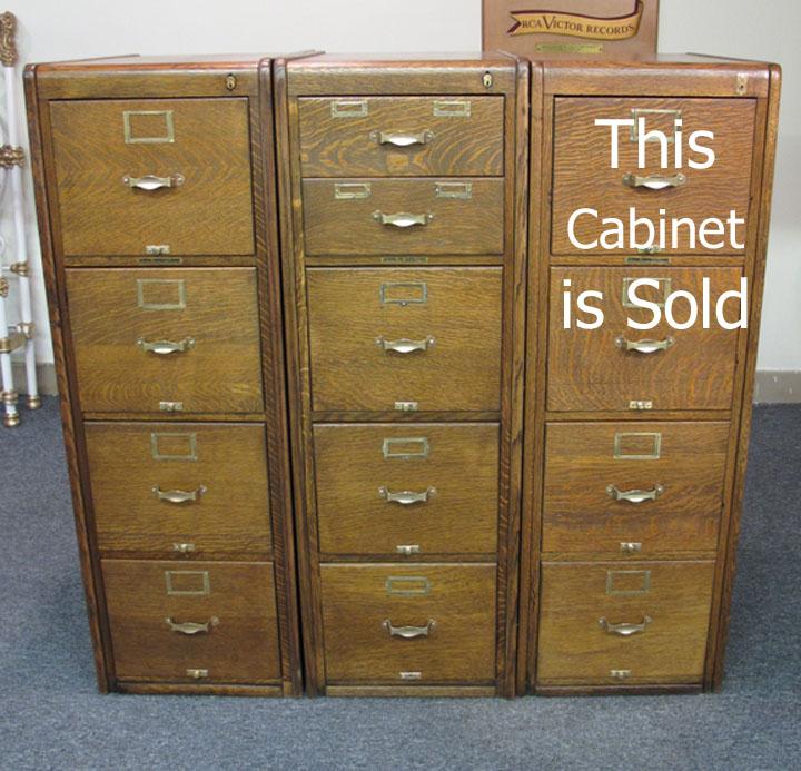library bureau quartersawn oak file cabinets set of 3. Black Bedroom Furniture Sets. Home Design Ideas