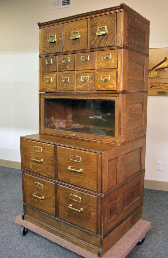 Yawman Amp Erbe Quartersawn Oak Stacking 5 Section File Cabinet