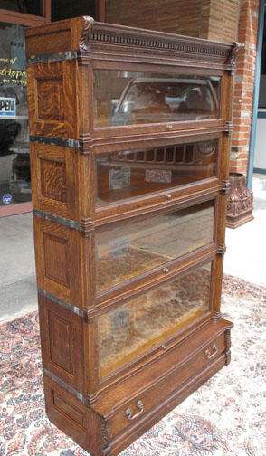 Quartersawn Oak Ideal Globe Wernicke Stacking Bookcase