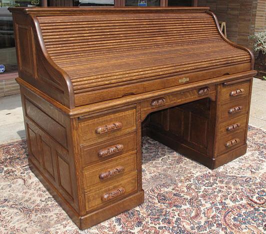 Quartersawn Oak 66 Quot Roll Top Desk