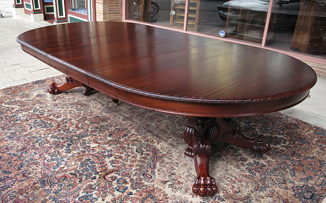 Rj Horner Oak Winged Lady Dining Table Victorian Other Fancy